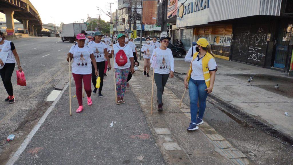 SeMOB registra maior fluxo de romeiros chegando a pé em Belém na manhã deste sábado